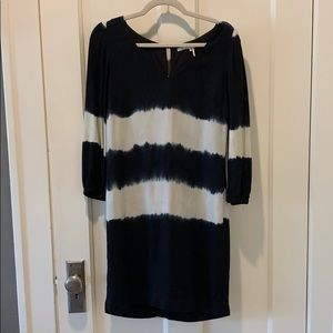 Anthropologie black and Off white dress. Size 2
